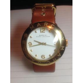 Relógio Feminino Marc Jacobs Pulseira De Couro Usado