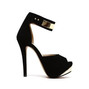 Zapatillas Plataformas Negras Sexys Sandalias Altas Moda Lob