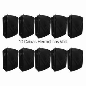 10 Caixa Hermética Volt Quadrada 29x23x8cm Grande Mod 003