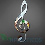 Espelho Decorativo Nota Musical Clave De Sol Kit 10 Unidades