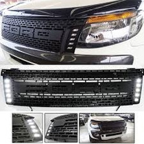 Mascara Modelo Raptor Con Led Ford New Ranger 2012-2015