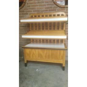 Mueble De Madera Exhibidor De Pan