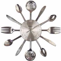 Ashton Sutton Qa Reloj De Pared Acabado De Plata Cepillado