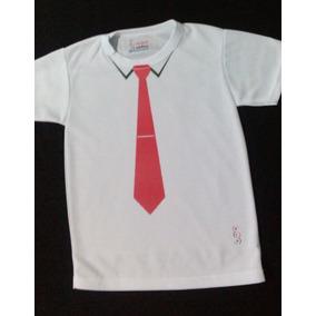 Playera Para Niño Dry Fit Con Diseño De Camisa Corbata