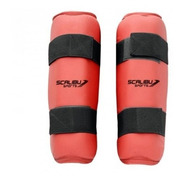 Caneleira Vermelha Para Taekwondo, Muay Thai Mma (scalibu)