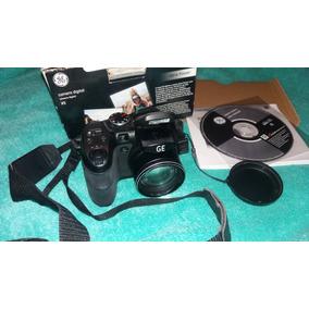 Camera Digital Semi Profissional Ge X5 + Cartão De Memória