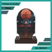 Trofeos En Acrilico De Baloncesto Ref. M003d3