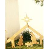 Nacimiento Gigante En Mdf De 15 Mm Jesús, María Y José