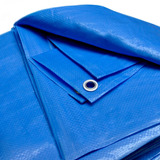 Lona 10x5 Plástica Azul Telhado Evento Barraca Forro Piscina