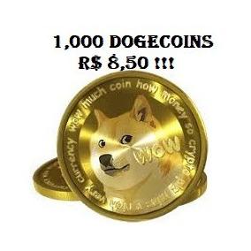 1000 Dogecoins Por R$8,50!!!
