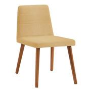 Cadeira Concha Estofada Yasmin Daf 82x50x48cm Varias Cores