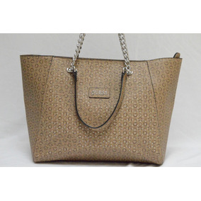 Preciosa Bolsa Guess Original En Color Café
