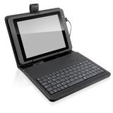 Capa Teclado Usb Tablet 10 Polegada + Adaptador Micro Usb V8