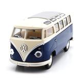 Azul Volkswagen Kombi Clásica 1962 Escala 1:24 Colección