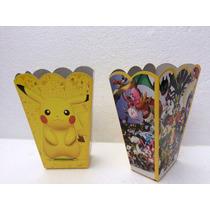 Cajas Para Palomitas Fiesta Pokemon Go Paquete Con 10