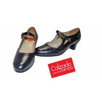 Zapatos De Español Y Folklore En Cuero Calzado Para La Danza