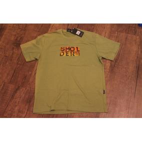Camisa Smolder Verde Masculina Manga Curta