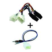 Plug Chicote Som + Plug Antena Toyota Etios Corolla Yaris
