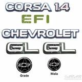 Kit Emblemas Chevrolet Corsa 1.4 Efi + Lateral Gl - 94 À 96