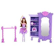 Juguete Barbie Rosa Púrpura Zapatos Armario De Muebles