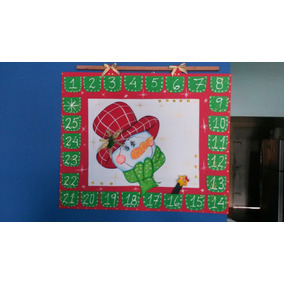 Calendario En Foami Navidad Cartel Pendon Bienvenido