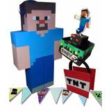 Combo Cotillón Minecraft Piñata, C D Mesa, Golosineros Y Mas