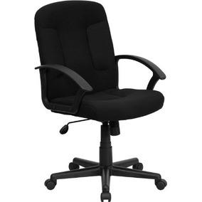 Muebles Flash Go-st-6-bk-gg Respaldo Medio Negro Tela De Ta