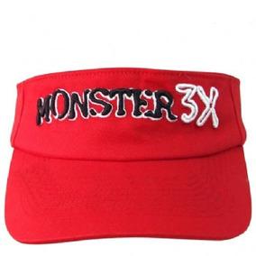 Viseira Monster 3x Regulavel Vermelha 1un