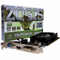 Gpu 1gb Ddr3 64bits Zogis Geforce Gt210 Pci-e Dvi/vga/hdmi