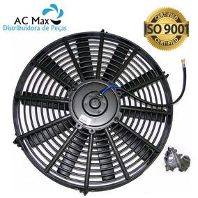 Eletro Ventilador Ar Condicionado Universal 14 Polegadas 12v