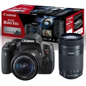 Canon T6i + Lentes 55-250 + 18-55 Nao É 80d T7i 77d