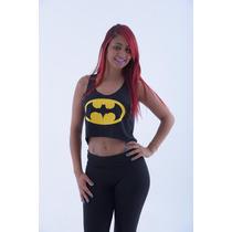 Cropped Regata Blusa - Batman Heróis