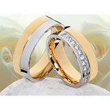 Alianzas-compromiso -bodas-acero -zircones-oro 18kt-bicolor