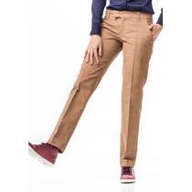 Pantalón Corderoy Elastizado Color Habano Marrón Giacca