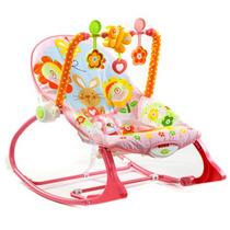 Cadeira Balanço Vibratória Rosa Bebê Conforto Fisher Price