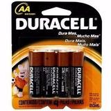 Pilha Alcalina Aa Duracell Cartela Com 4 Pilhas Original