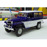 1:18 Jeep Willys Station Wagon 1955 Azul Lucky Die Cast