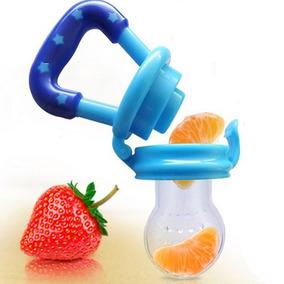 Chupeta Alimentadora De Fruta Bico Silicone Bebê Mordedor