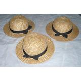 Sombreros De Paja Multiuso Con Cinta Paras Niñas 45 Cms.