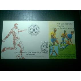 Brasil Selo Fdc Bloco Rhm B70 1985 Futebol Copa México 1986