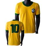 Camisa Retrô Seleção Brasileira Copa 1970 Brasil Brazil 70
