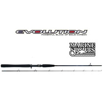 Combo Caña Bait Marine Sport Evolution 30 Lb + Reel Red Fish