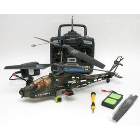 Helicoptero Apache A Radio Control De 30 Cm Lanza Misil