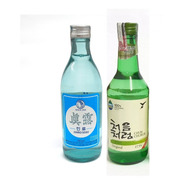 2 Bebida Alcoólica Coreana Soju Original + Soju Is Back