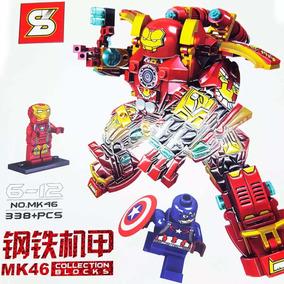 Lego Armadura Hulk Buster Homem De Ferro Mk46 338 Peças