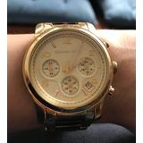 Relógio Michael Kors 5659 Dourado tartaruga Em Ótimo Estado 0116f33cde