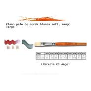 Pincel Plantec Linea 8750 Nº 8 Cerda Blanca Soft Mango Largo