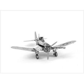 Mini Quebra Cabeça 3d De Metal - Avião - F4u Corsair