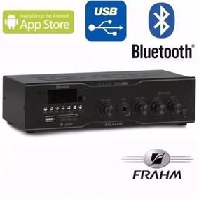 Reciver Som Ambiente Casa Frahm Slim 1500 Bluetooth Usb App