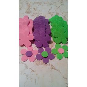 Flores En Foami Para Aplicaciones P/paq Variadas Y Unicolor
